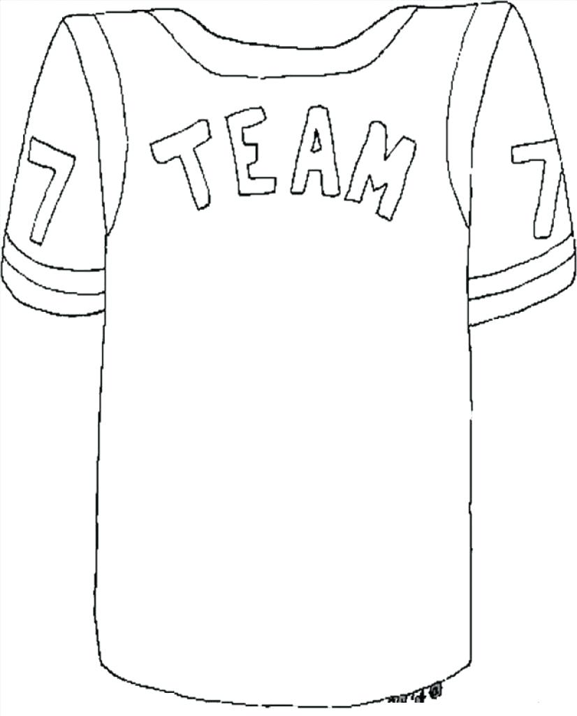 826x1024 Coloring Football Jersey Coloring Page With Realistic Player