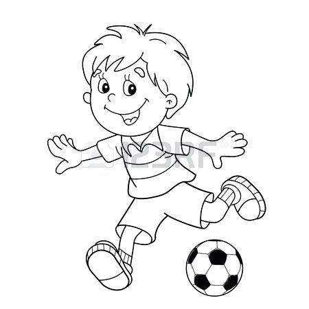 450x450 Outline Of A Football Best Collection Coloring Pages