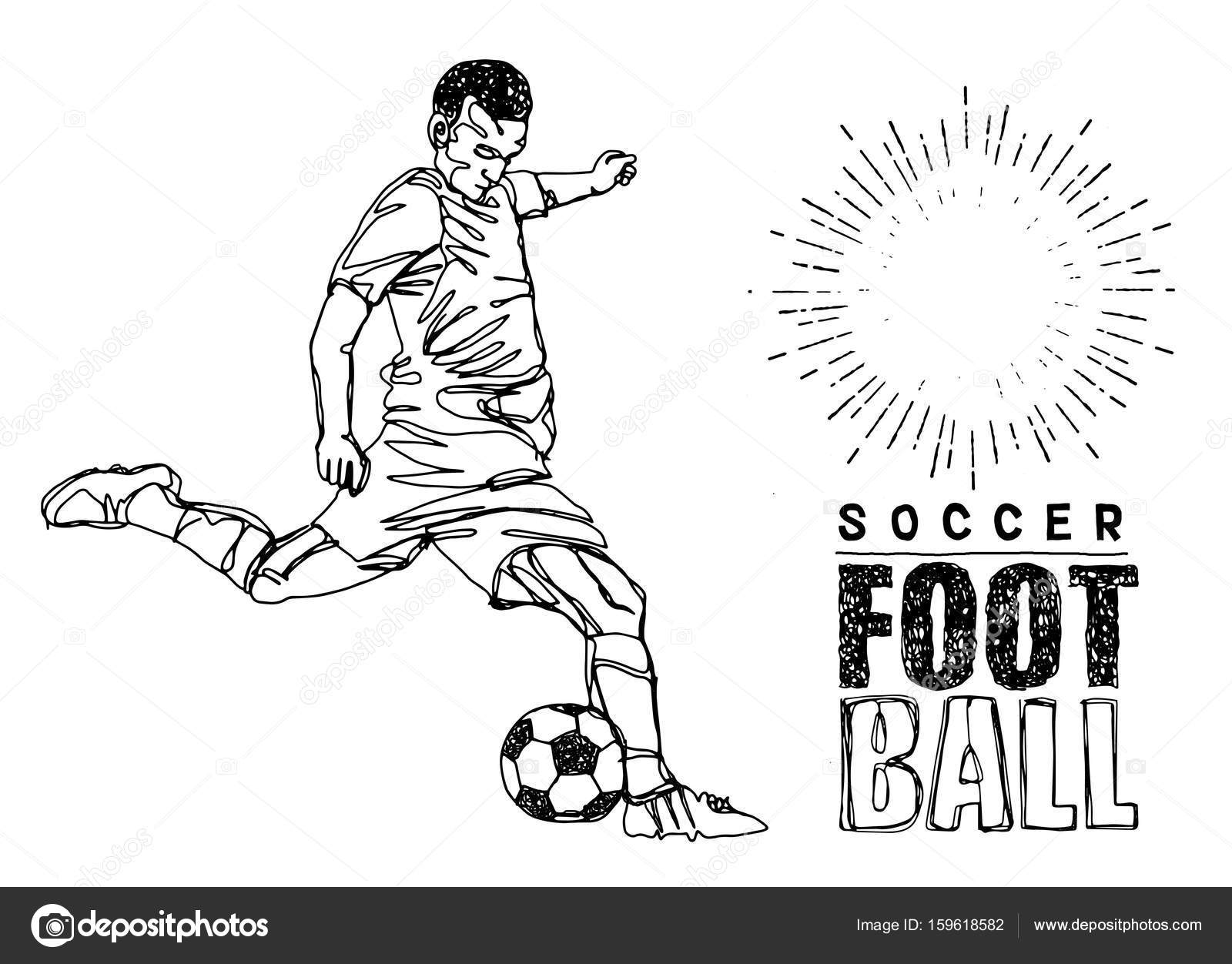 1600x1252 Continuous Line Drawing Or One Line Drawing Of Two Soccer Player