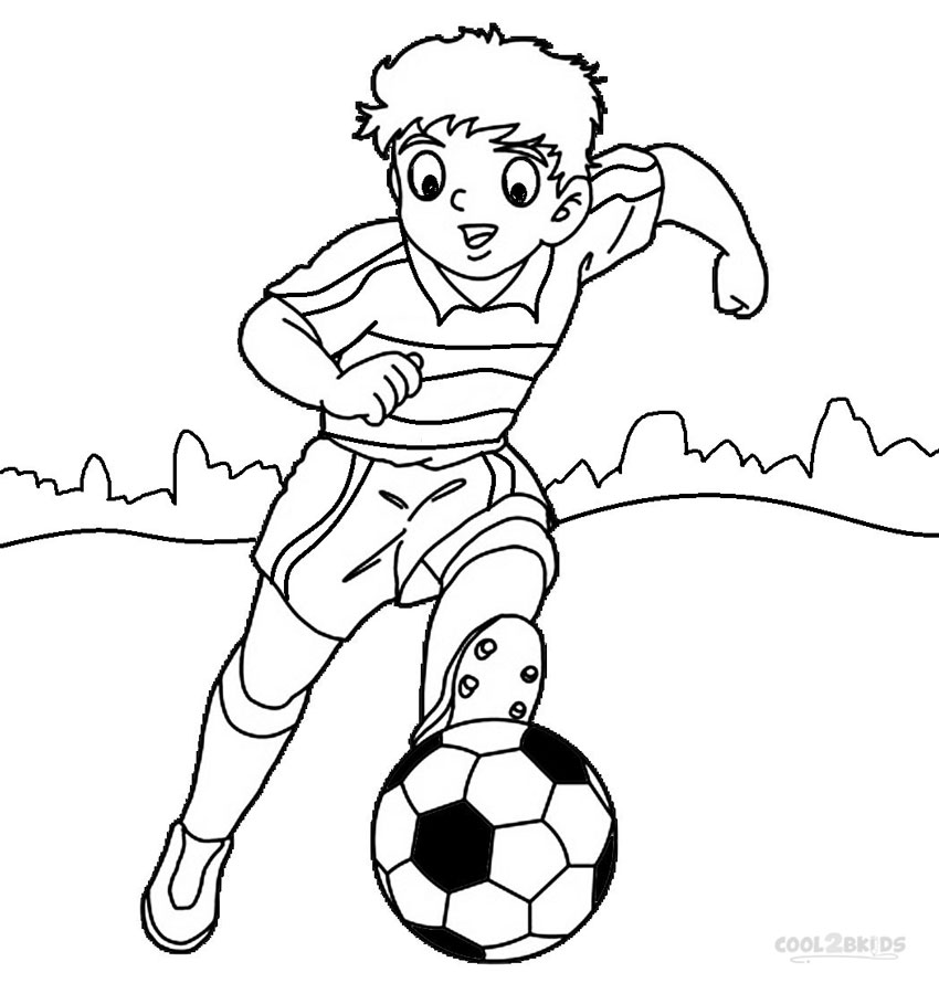 Soccer Line Drawing at GetDrawings.com | Free for personal use ...