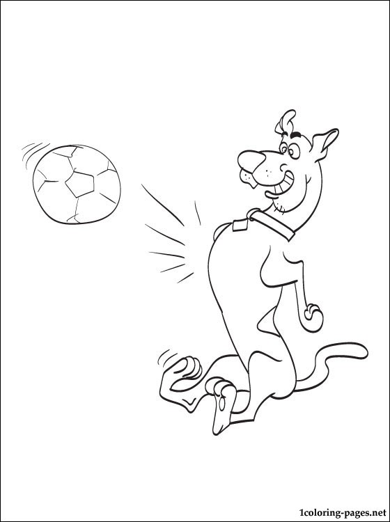 560x750 Scooby Doo Playing Soccer Line Drawing Coloring Pages