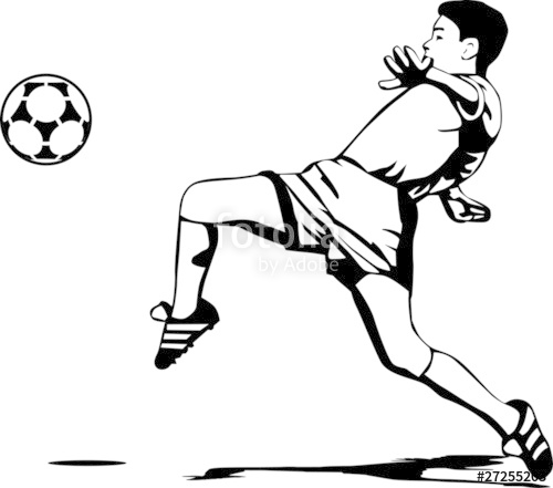 500x441 Soccer Player Stock Image And Royalty Free Vector Files