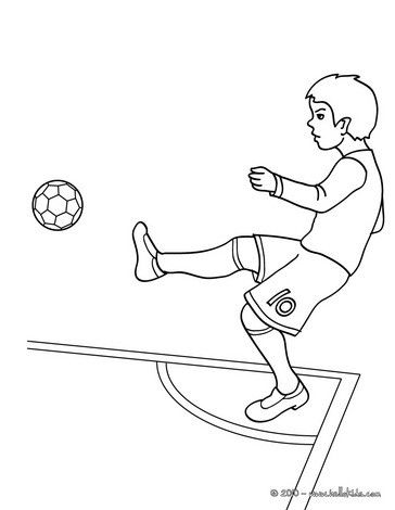 364x470 Soccer Player Kicking A Corner Coloring Page, More Soccer