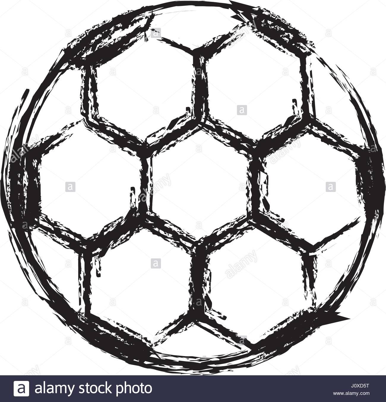 1300x1355 Monochrome Sketch Of Soccer Ball Stock Vector Art Amp Illustration