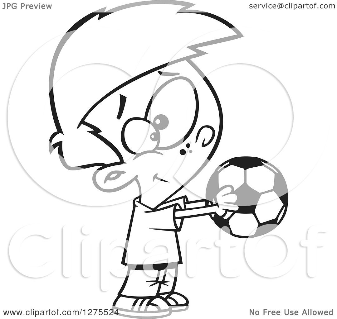 1080x1024 Cartoon Clipart Of Blacknd White Happy Boy Holding Out
