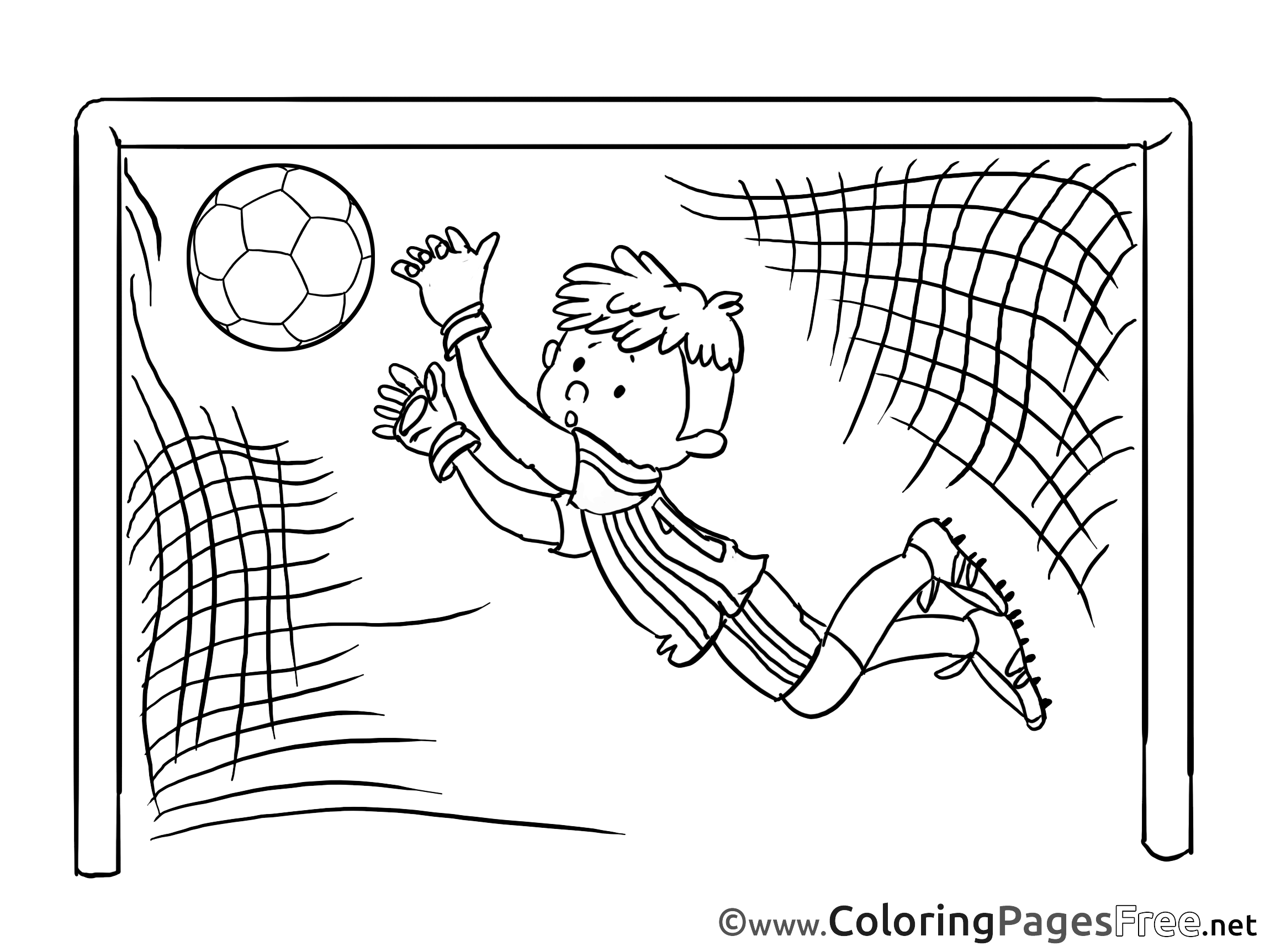 2300x1725 Goal Goalkeeper Soccer Free Coloring Pages