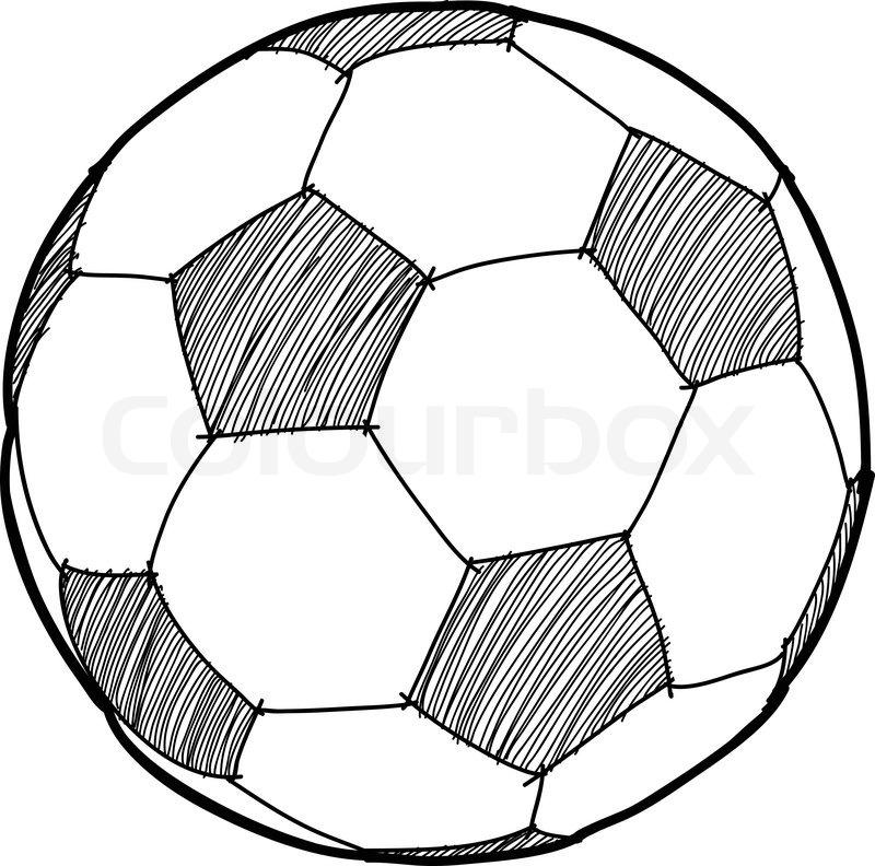 800x792 Hand Writing Soccer Ballfootballcartoon Stock Vector Colourbox