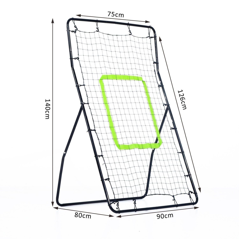 1500x1500 Homcom Rebounder Net Playback Soccer Football Game Spot Target