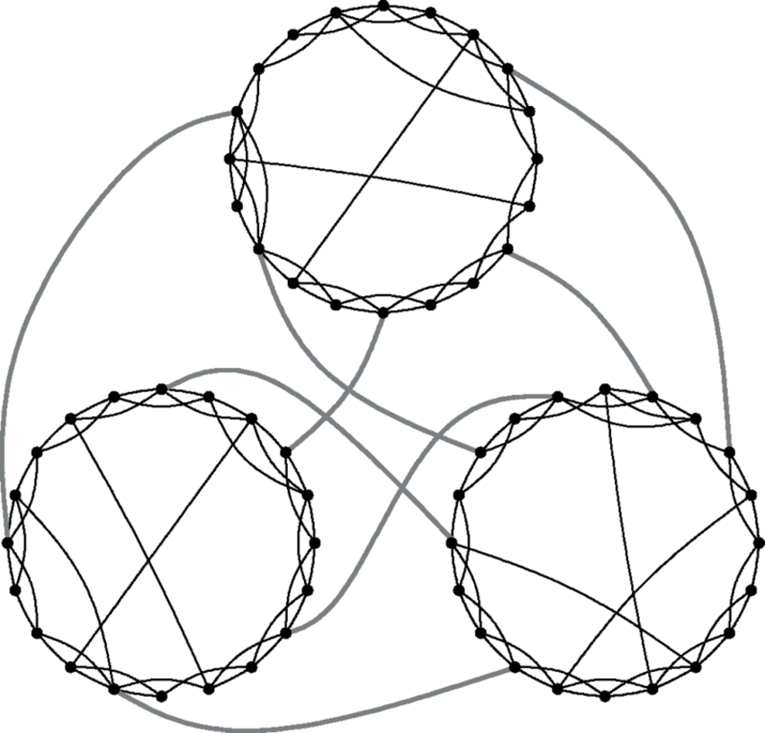 850x815 Schematic Representation Of The Clustered Small World Network