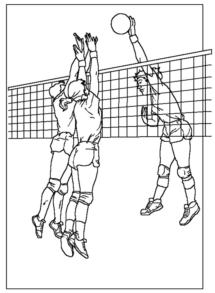 693x941 Coloring Amp Activity Pages Volleyball