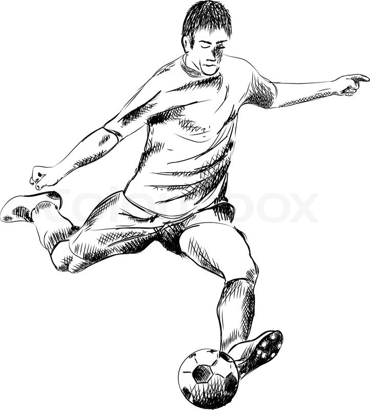 723x800 Football Player On The White Stock Vector Colourbox
