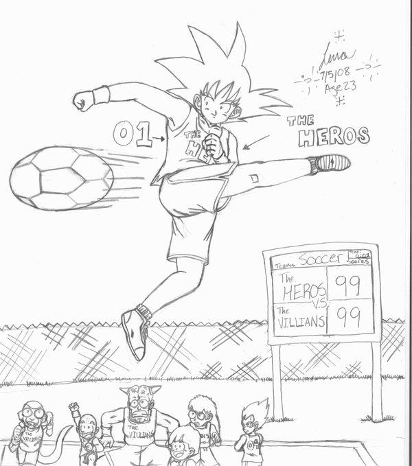 600x679 Goku Playing Soccer By Hikari Chan1
