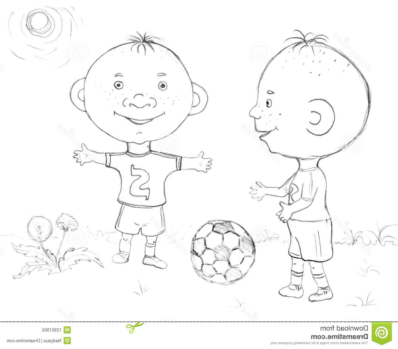 1300x1141 Some Boy Football Playing Drawing How To Draw A Soccer Player