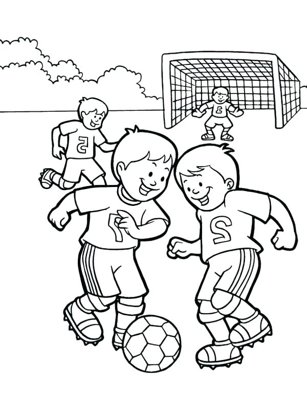 600x775 Soccer Players Coloring Pages