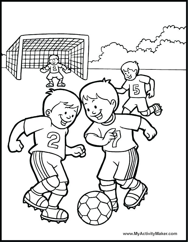 618x798 Draw Football Player Coloring Pages For Your Free Kids Of Players