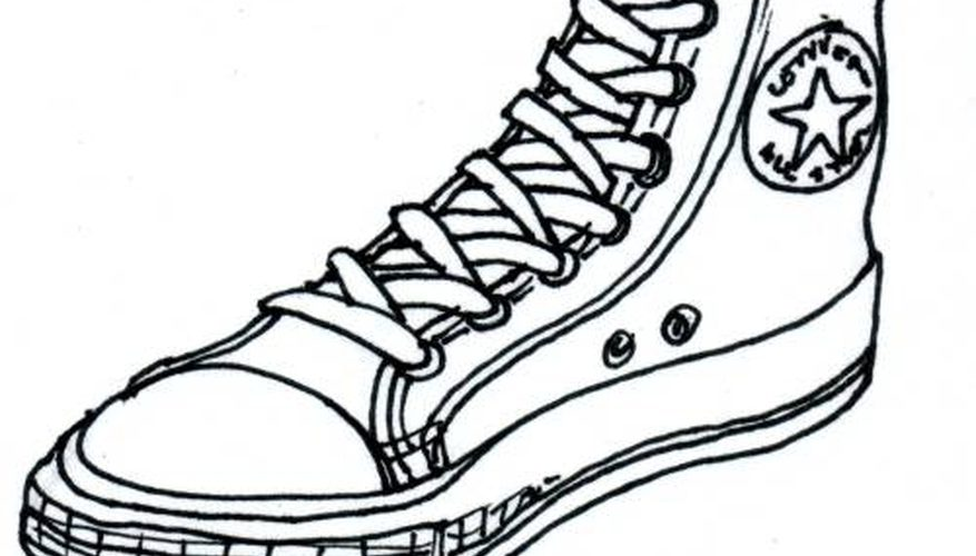 877x500 How To Draw Converse Shoes Our Pastimes