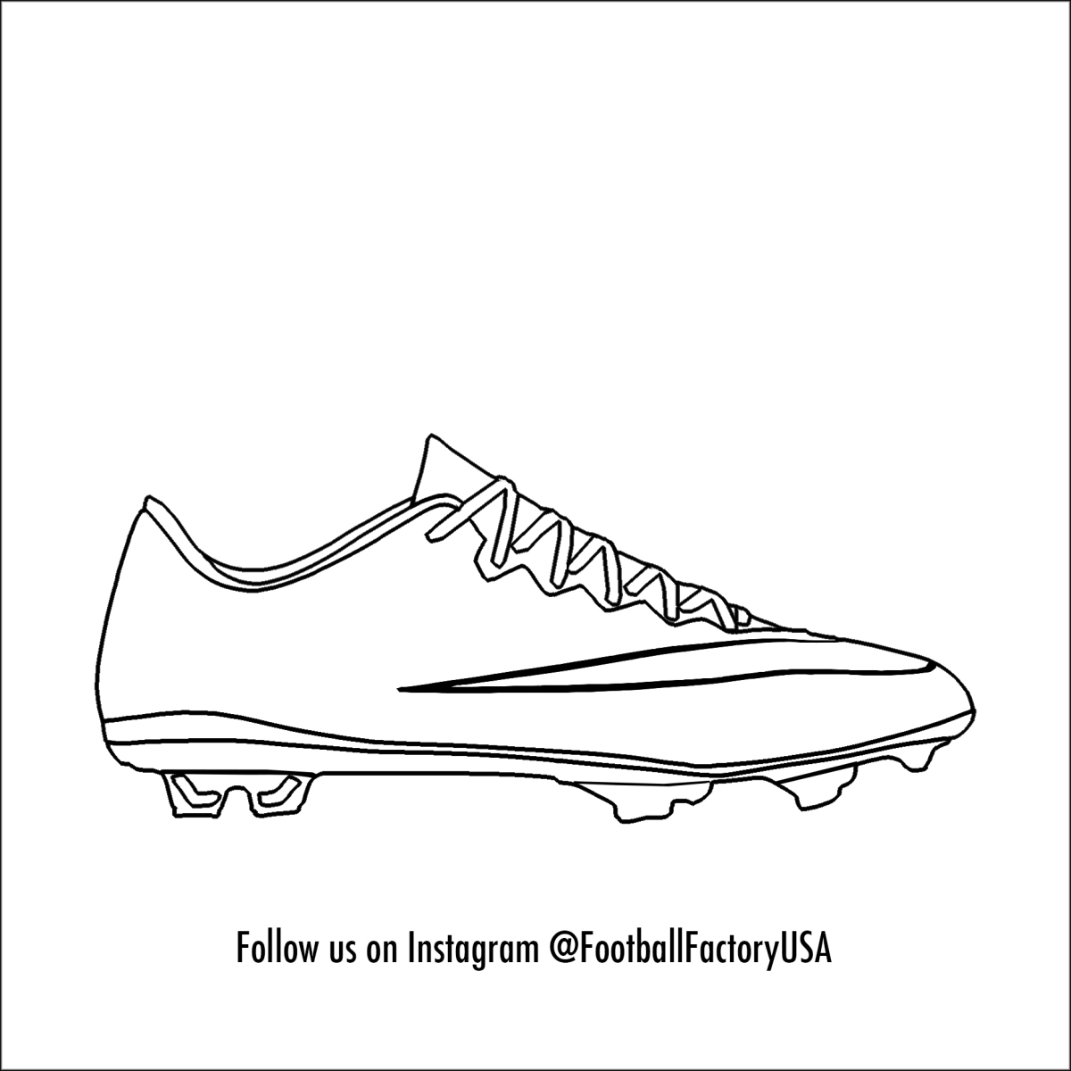 1200x1200 Nike Soccer Shoes Drawing