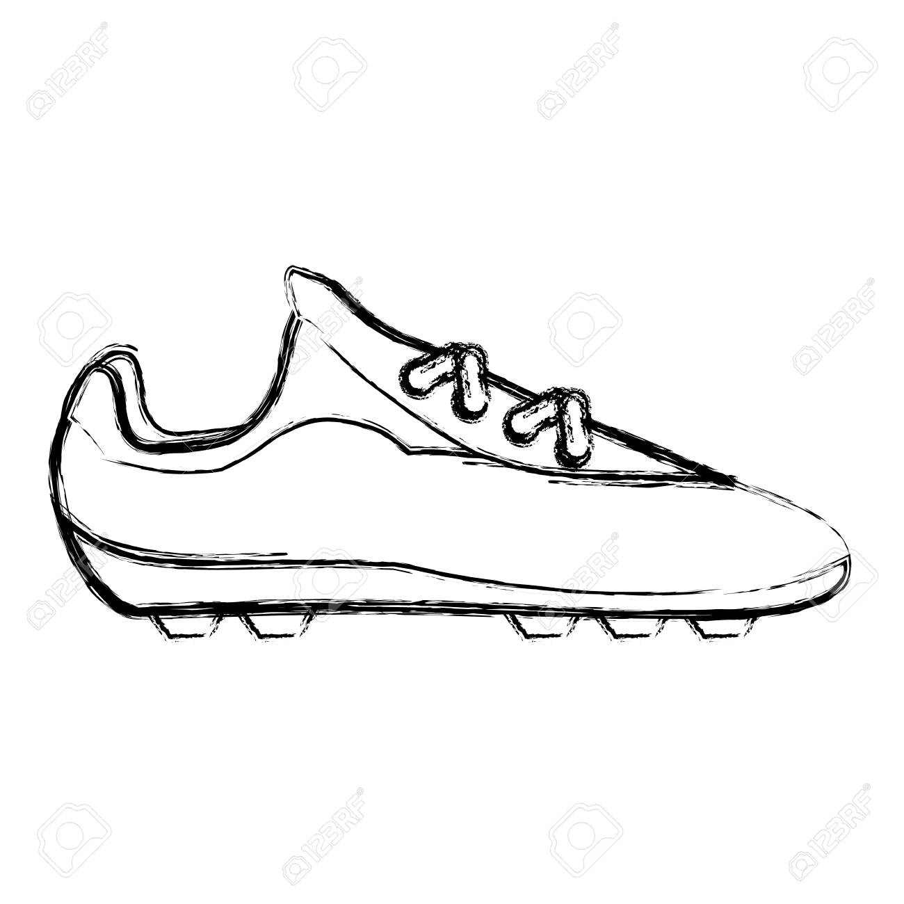 1300x1300 Soccer Shoes Footwear Icon Vector Illustration Graphic Design