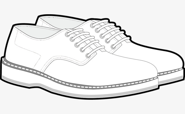 650x400 Sports Shoes Vector, Stick Figure, Black And White Painting
