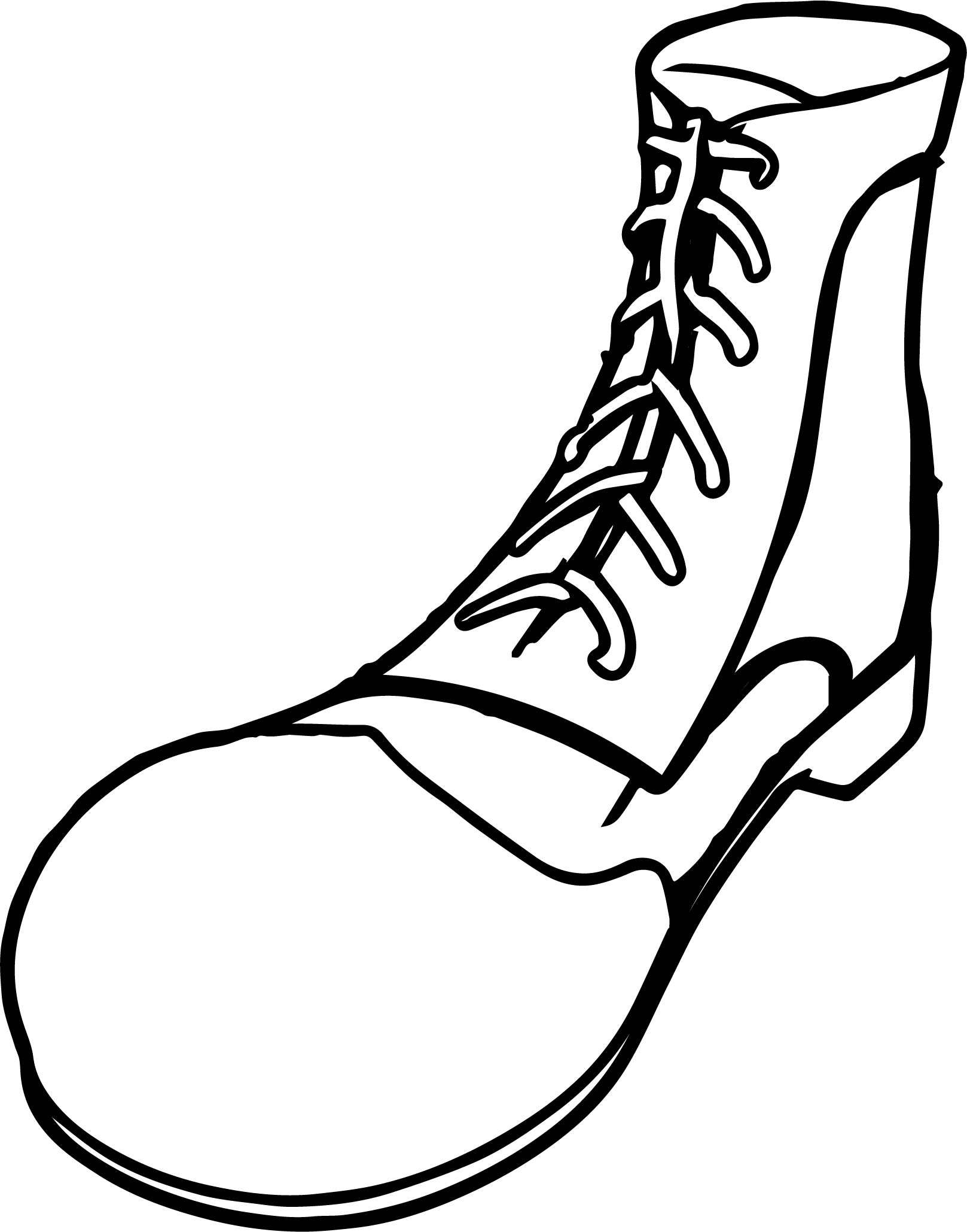 1617x2059 Clown Shoes Coloring Page Wecoloringpage