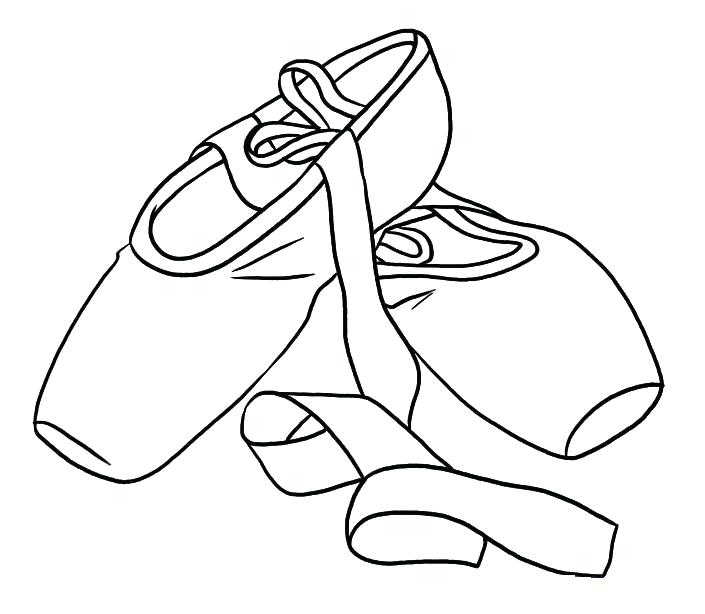 705x614 Coloring Pages Shoes Ballet Shoes Colouring Pages Coloring Page