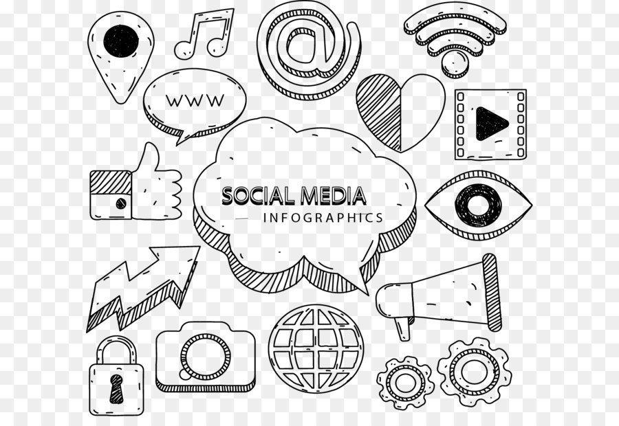 900x620 Social Media Marketing Infographic Euclidean Vector Icon
