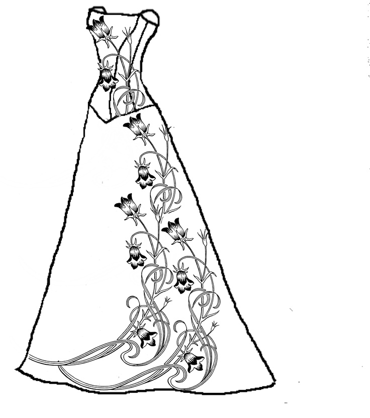 736x833 Elegant Dress Coloring Pages 44 On Coloring Pages Online Free