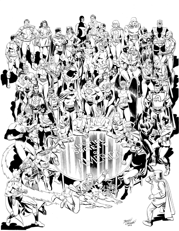 619x800 Jerry Ordway Justice Society (Jsa) And Infinity Inc, In John