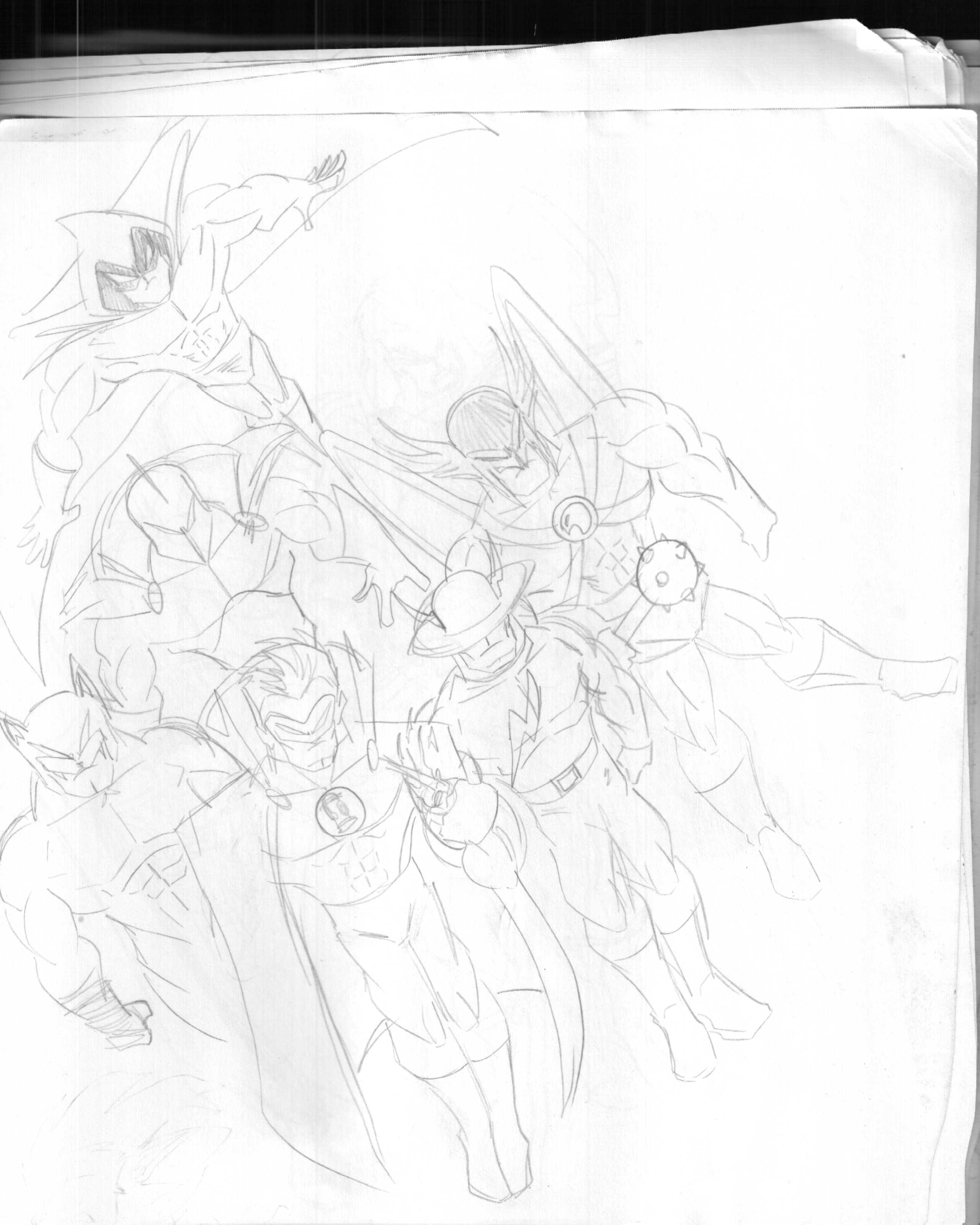 2560x3200 Justice Society Of America Wk's Drawingsipad Art