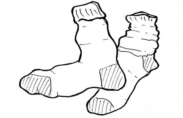 Sock Drawing At Getdrawings Com Free For Personal Use