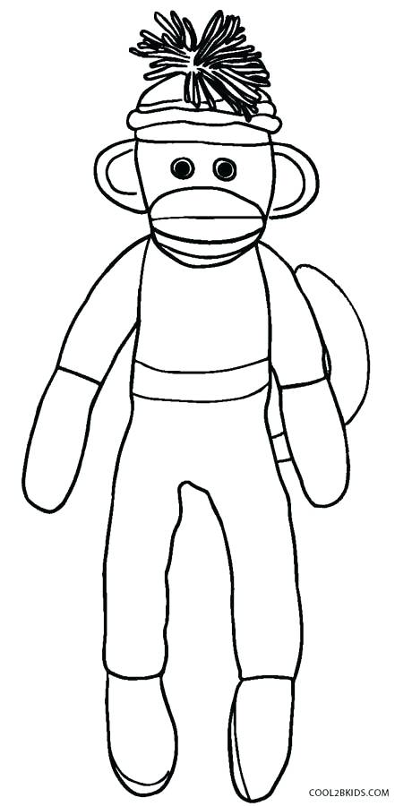 460x900 Sock Monkey Coloring Pages Sock Monkey Coloring Pages Sock Monkey