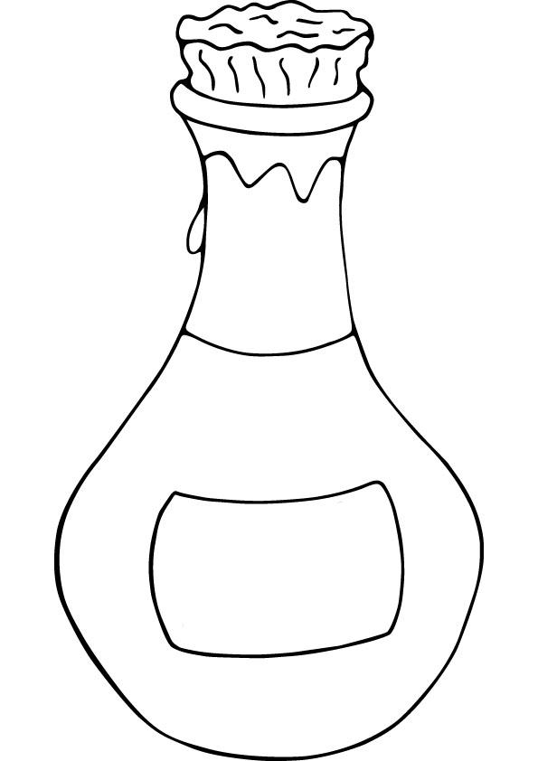 595x842 Bottle Color Page Water Bottle Color Page