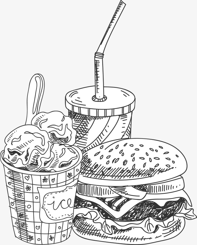 650x808 Vector Painted Soda, Soft Drink, Hand Painted Ice Cream, Hand