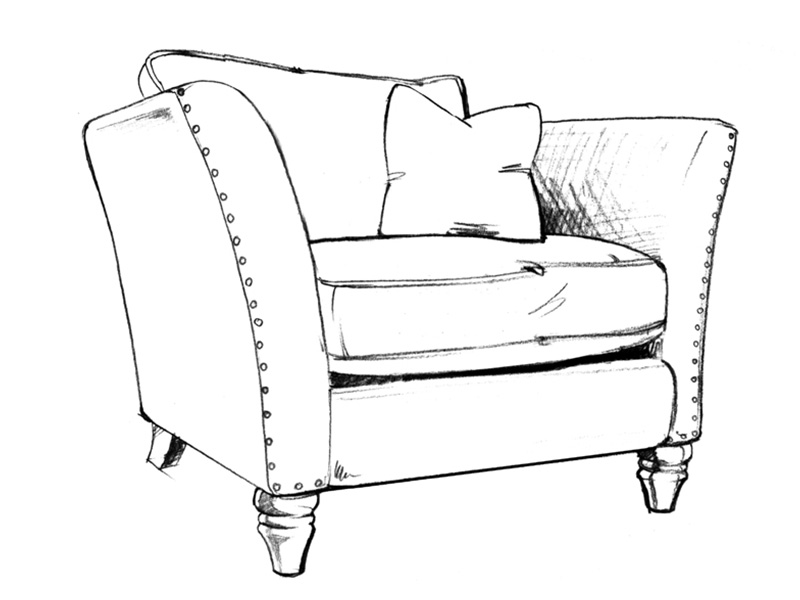 Sofa Chair Drawing