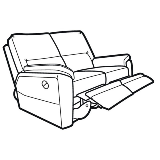 640x640 Hampton Double Manual Recliner 2 Seater Sofa With Latches