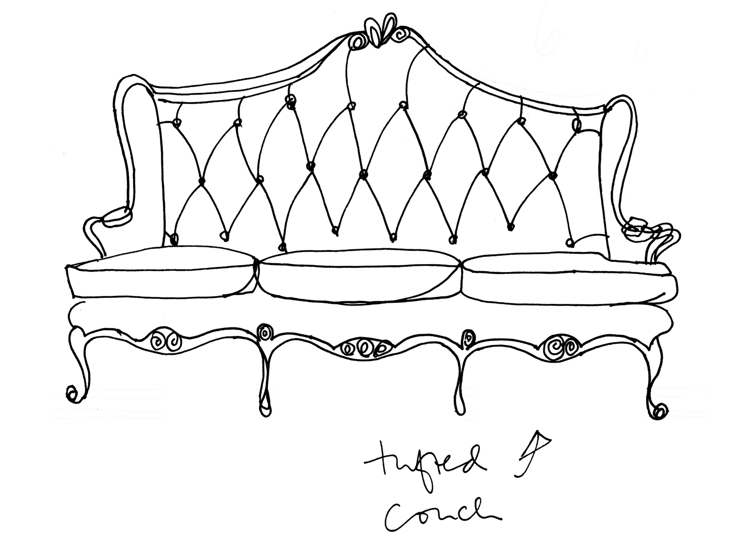 Sofa Chair Drawing At Getdrawings Com Free For Personal Use Sofa