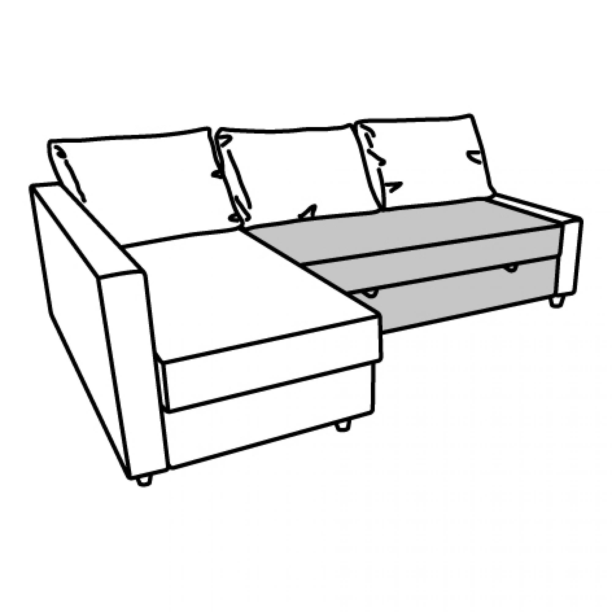 2000x2000 Friheten Seat Section For Corner Sofa Bed Orange