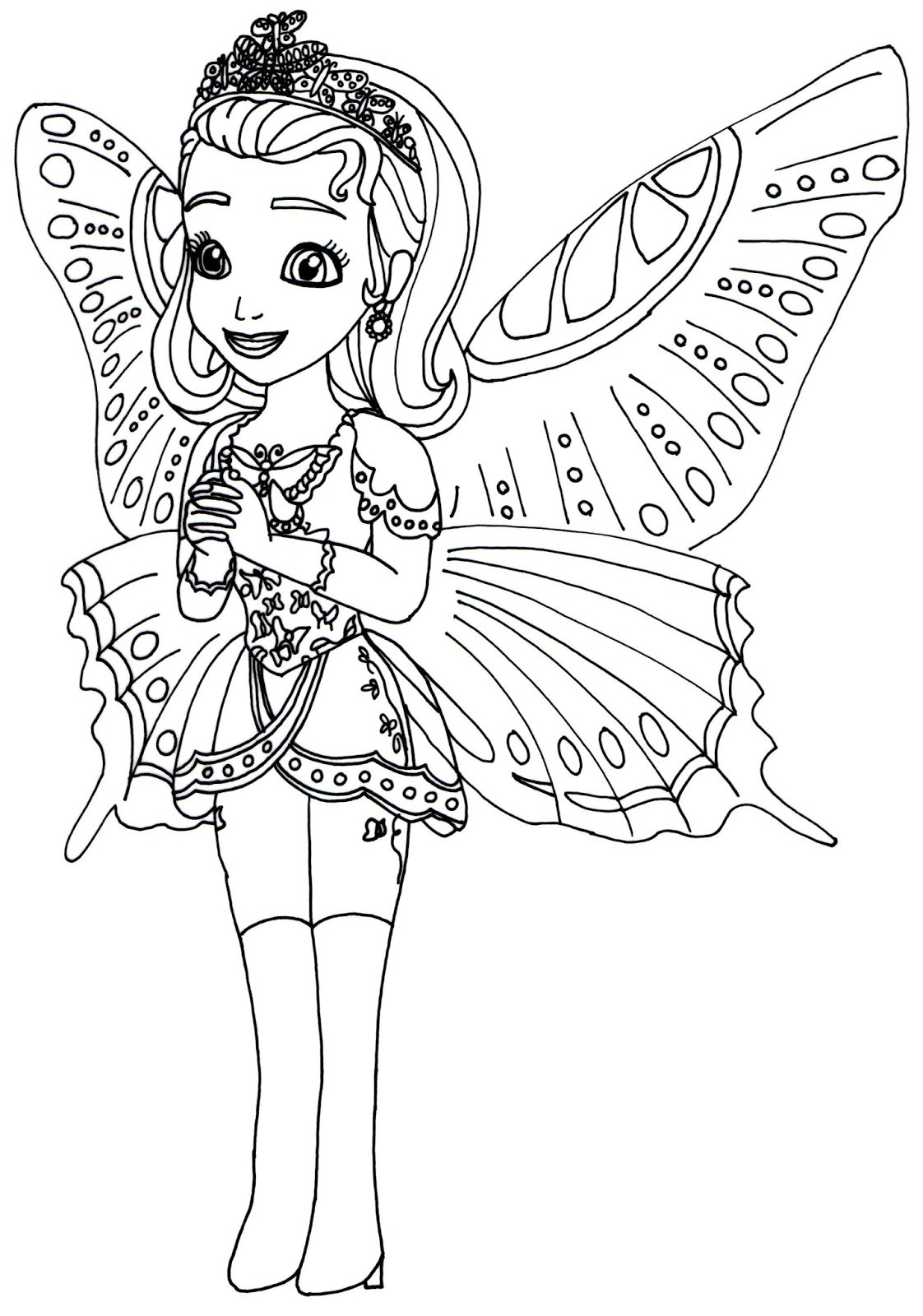 1122x1600 sofia the first coloring pages princess butterfly sofia the first
