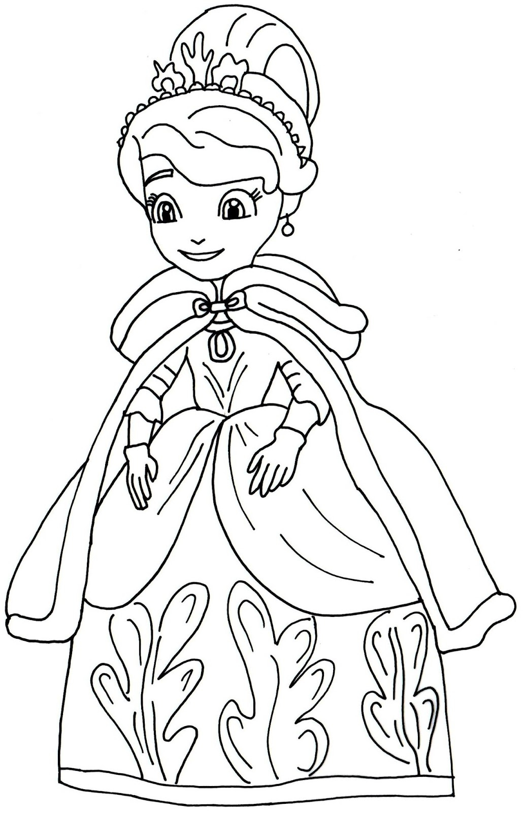 1030x1600 Sofia The First Drawing Sofia The First Coloring Pages Amber