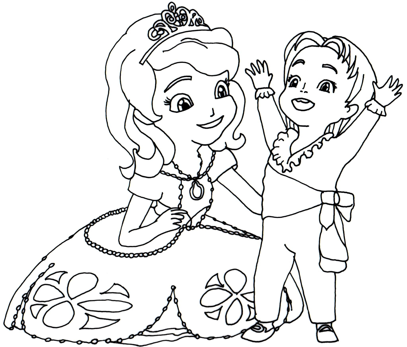 1600x1365 Sofia The First Drawing Sofia The First Coloring Pages Queen