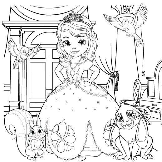 519x519 Beautiful Sofia The First Coloring Pages 16 About Remodel World