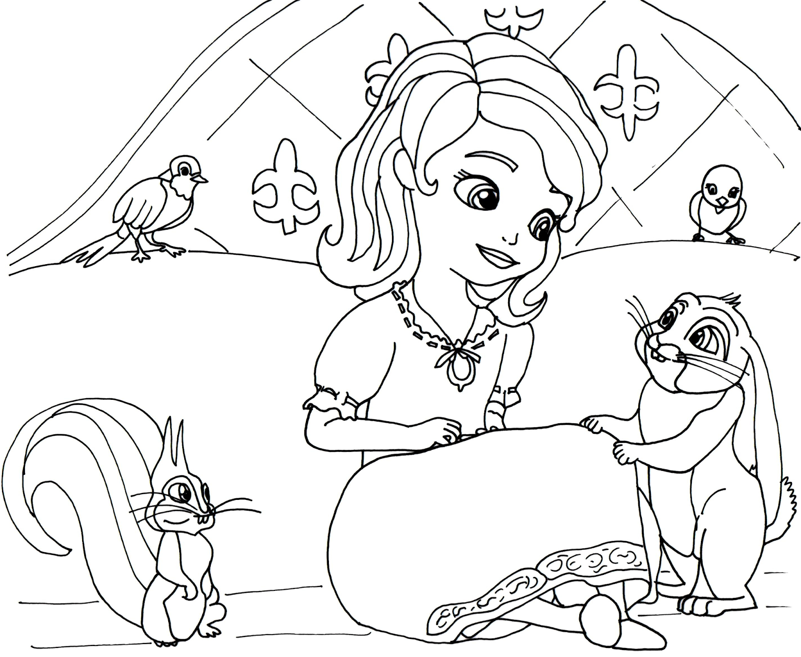 1600x1313 Sofia The First Drawing Sofia The First Coloring Pages Queen