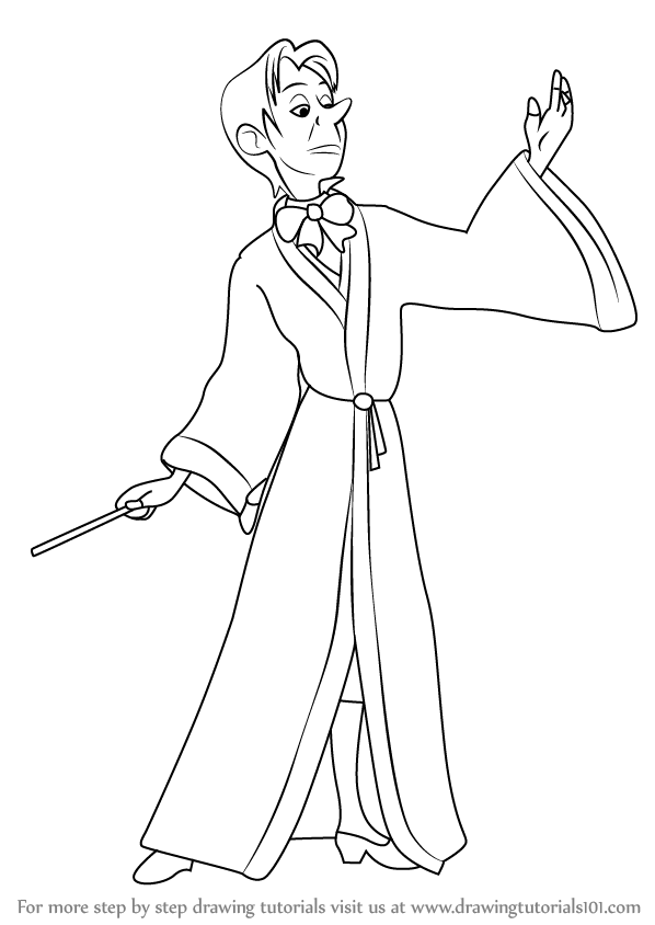 598x844 Learn How To Draw Cedric The Sorcerer From Sofia The First (Sofia