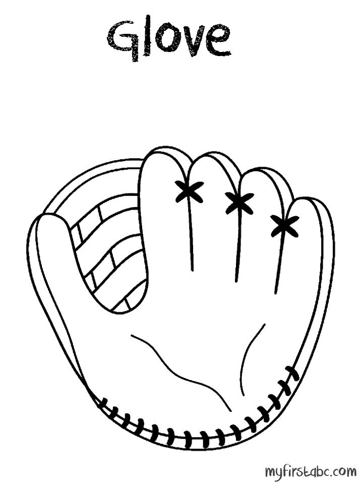 718x958 Baseball Mitt Clipart