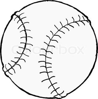 317x320 Baseball Ball On A White Background. Vector. Stock Vector