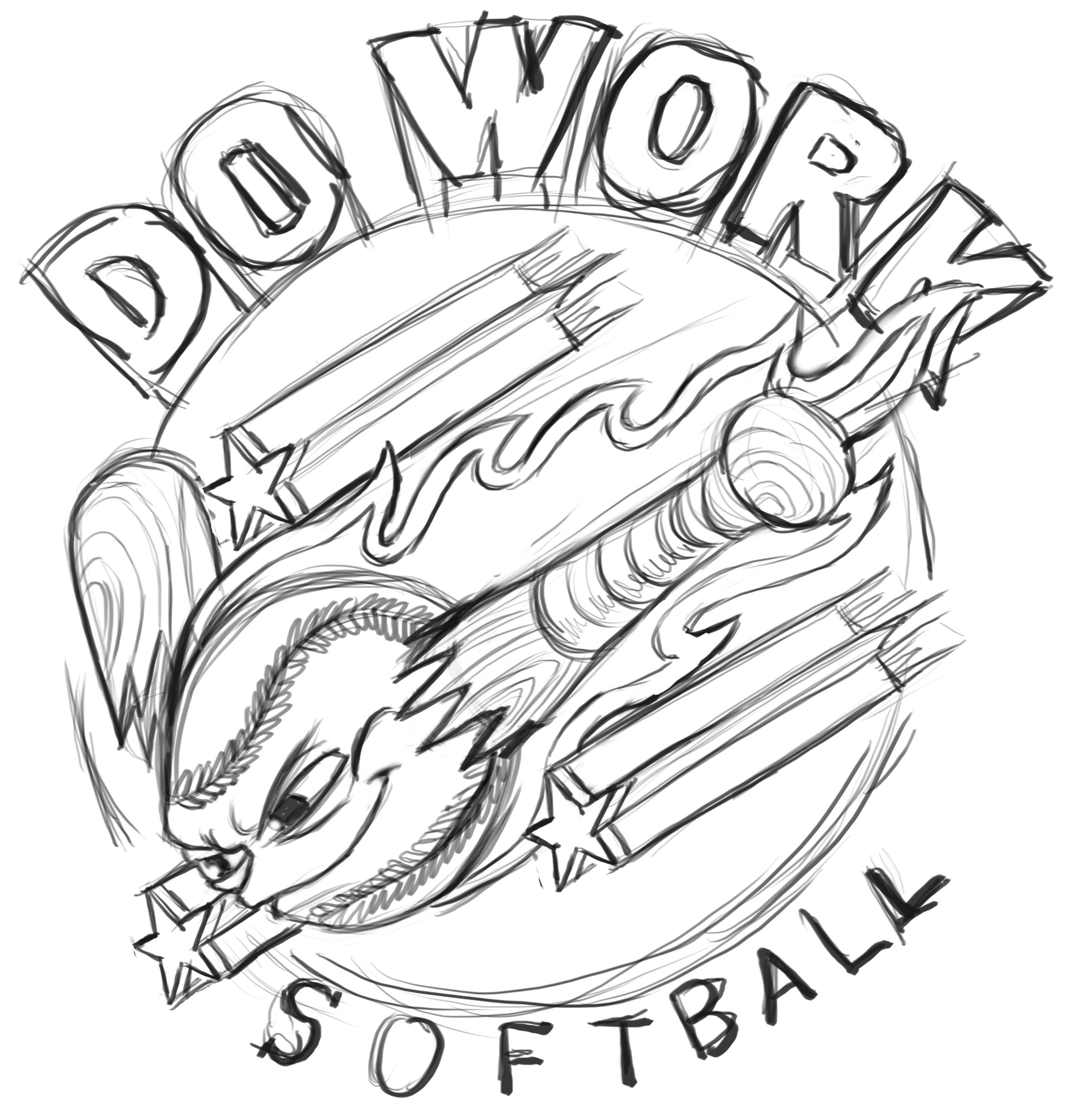 2416x2512 Do Work Softball