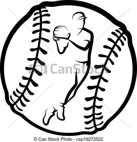 450x467 Drawn Baseball Black And White