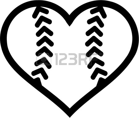 450x384 Softball Ball Heart Royalty Free Cliparts, Vectors, And Stock