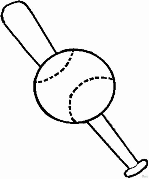 575x690 Baseball Bat Coloring Pages