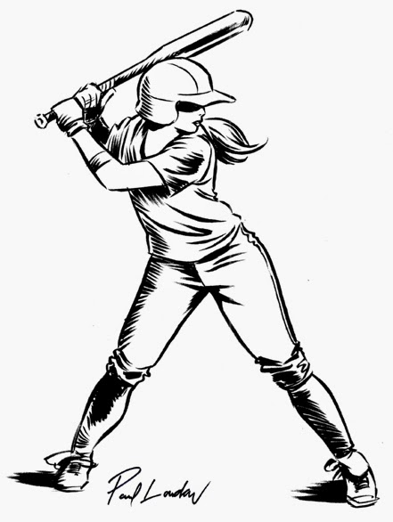 441x586 Paul Loudon Lantern Jaw Mr. Illustrator Softball Girls